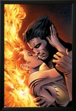 X-Men: The End No.1 Cover: Wolverine and Phoenix Fighting Posters par Sean Chen