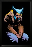 Wolverine No.3 Cover: Wolverine and Logan Flying Posters by Frank Miller
