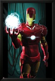 Ultimate Comics Ultimates No.3 Cover: Iron Man with Energy Art by Kaare Andrews