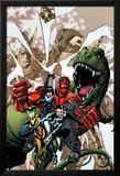 Avengers Academy No.12 Cover: Striker, Veil, Hazmat, Finesse, Mettle, and Reptil Prints by Mike McKone