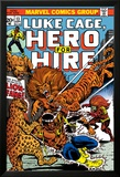Marvel Comics Retro: Luke Cage, Hero for Hire Comic Book Cover No.13, Fighting Lion-fang, Wild Cats Láminas