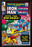 Tales Of Suspense No.65 Cover: Iron Man, Captain America, Bucky and Red Skull Swinging Prints by Don Heck