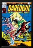 Daredevil No.165 Cover: Daredevil and Doctor Octopus Crouching Foto van Frank Miller