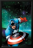 Captain America & The Korvac Saga No.1 Cover: Captain America Running Poster by Craig Rousseau