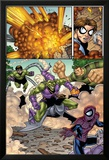 Marvel Adventures Spider-Man No.12 Group: Spider-Man, Green Goblin, Sandman and Doctor Octopus Poster by Mike Norton