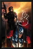 Capitan America No.612 Cover: Captain America and Winter Soldier Standing Poster par Marko Djurdjevic
