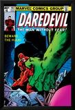 Daredevil No.163 Cover: Hulk and Daredevil Fighting Poster van Frank Miller