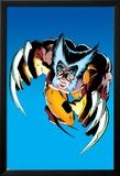 Wolverine No.2 Cover: Wolverine Fighting Poster van Frank Miller