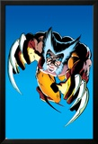 Wolverine No.2 Cover: Wolverine Fighting Prints by Frank Miller