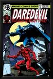Daredevil No.158 Cover: Daredevil and Death-Stalker Poster by Frank Miller