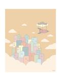 Reza Farazmand - Sky City Obrazy