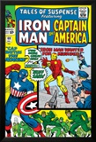 Tales Of Suspense No.60 Cover: Iron Man, Captain America, Hawkeye and Assasin Fighting Prints by Don Heck