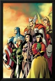 I Am an Avenger No.5 Cover: Ant-Man, Vision, Hawkeye, Wiccan, Speed, Captain America and Others Affiches par Alan Davis