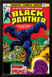 Black Panther No.7 Cover: Black Panther Fighting Poster von Jack Kirby