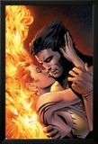 X-Men: The End No.1 Cover: Wolverine and Phoenix Fighting Affiches par Sean Chen