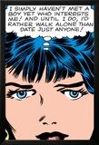 Marvel Comics Retro: Love Comic Panel, Proud Single Woman Poster