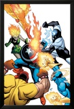 Captain America & The Korvac Saga No.2 Cover: Captain America Fighting Guardians of the Galaxy Posters by Craig Rousseau