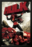Hulk No.47 Cover: Red She-Hulk and Red Hulk Posters by Carlo Pagulayan
