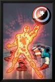 Captain America & The Korvac Saga No.3 Cover: Korvac Posing with Captain America's Shield Prints by Craig Rousseau