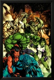 Incredible Hulk No.612 Cover: A-Bomb, Red She-Hulk, She-Hulk, Hulk, Skaar, and Bruce Banner Prints by Carlo Pagulayan