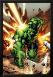 Incredible Hulks No.615 Cover: Hulk Smashing Print by Carlo Pagulayan