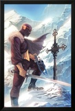 Captain America No.608 Cover: Baron Zemo Standing with a Sword in the Snow Poster par Marko Djurdjevic