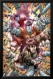 X-Campus No.4 Cover: Wolverine, Rogue, Colossus, and Nightcrawler Charging Art by Todd Nauck