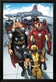 Daken: Dark Wolverine No.9.1: Wolverine, Thor, Iron Man, Spider-Man and Others Plakater af Ron Garney