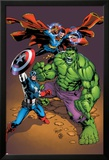 Marvel Adventures Super Heroes No.21 Cover: Captain America, Hulk, and Dr. Strange Posing Art by Carlo Pagulayan