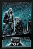 Secret Warriors No.24: Nick Fury Standing in the Rain at Night by a Tombstone Kunstdrucke von Alessandro Vitti