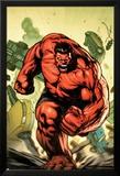 Hulk No.30.1 Cover: Rulk Charging Posters av Gabriel Hardman