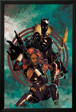 Klaws of The Panther No.4 Cover: Black Widow and Black Panther Posing Posters par Mike Del Mundo