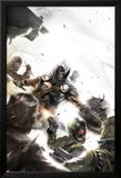 Taskmaster No.2 Cover: Task Master Fighting Prints by Francesco Mattina