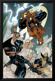 X-Men No.7 Cover: Spider-Man, Cyclops, Wolverine, Storm, and Emma Frost Posters par Terry Dodson