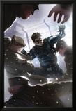 Captain America No.618 Cover: Winter Soldier Fighting Poster par Marko Djurdjevic