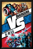 AVX No.1 Cover: Cyclops, Storm, Magneto, Colossus, Emma Frost, Captain America and Others Posters by Adam Kubert