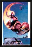 AVX: Vs No.1: Panels with Iron Man Flying Prints by Adam Kubert