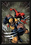 Savage Wolverine 6 Cover: Spider-Man, Wolverine Poster von Joe Madureira