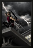 Ultimate Hawkeye No.2 Cover: Hawkeye Crouching and Shooting a Bow and Arrow Prints by Kaare Andrews