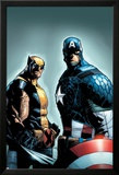 A+X 9 Cover: Wolverine, Captain America Posters by Humberto Ramos