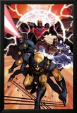 Origins of Marvel Comics: X-Men No.1 Cover: Wolverine, Storm, Cyclops, and Magneto Running Affiches par Mike Del Mundo
