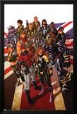 Revolutionary War: Alpha 1 Cover: Captain Britain, Angel, Killpower, Wisdom, Pete, Colonel Liger Posters av Mark Brooks