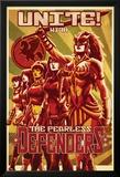 Fearless Defenders 11 Cover: Hippolyta, Moonstar, Misty Knight, Valkyrie, Bloodstone, Elsa Konst av Mark Brooks