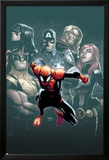 Superior Spider-Man 7 Cover: Spider-Man, Spider Woman, Wolverine, Captain America, Black Widow Print by Humberto Ramos