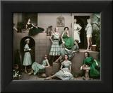 Glamour - April 1952 Framed Print Mount by Frances Mclaughlin-Gill