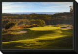 Crystal Downs Country Club, deep bunkers Framed Print Mount by Dom Furore