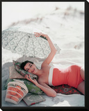 Vogue - July 1954 Framed Print Mount by Karen Radkai
