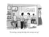 """I'm starting a startup that helps other startups start up."" - New Yorker Cartoon Premium Giclee Print by Kaamran Hafeez"
