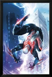 Spider-Man 2099 1 Cover Featuring Lightning, Skyscrapers, Electricity, Falling, Jumping Posters by Francesco Mattina