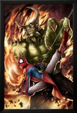 Spider-Man India No.4 Cover: Spider-Man and Green Goblin Posters by Jeevan J. Kang